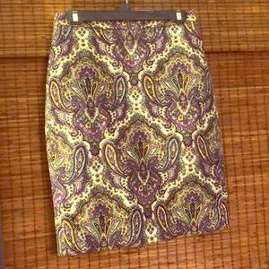 J. Crew Paisley Pencil skirt